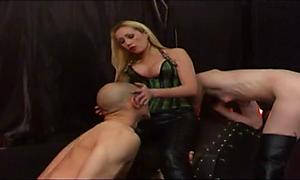 Busty mistress gets her slave a man to fuck